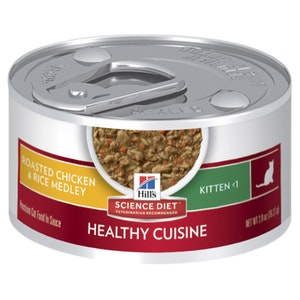 Hill's Science Diet Kitten Healthy Cuisine Chicken & Rice Medley Canned Cat Food 24 x 79g