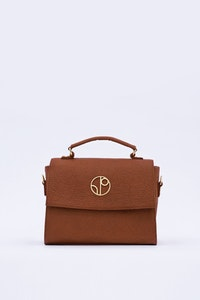 1 People London Piñatex® Saddle Bag in Mocha Brown