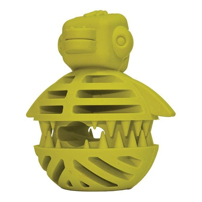 ScreamPet Scream Rubber Puzzle Duck Treat Dispensing Dog Toy Loud Green 9cm