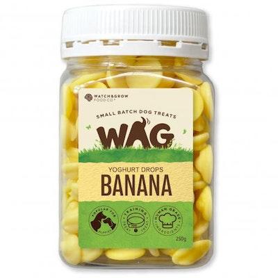 WAG Banana Yoghurt Drops Dog Treats 250G