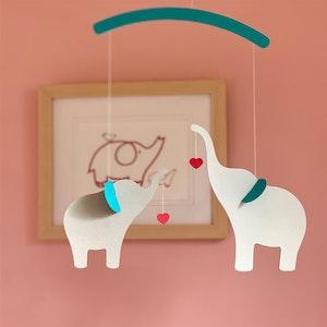 Elephant children's mobile