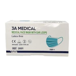 TGA Medical Face Masks - ARTG 333796 - Universal Fit 3Ply Disposable (50 Pack)