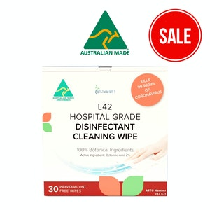 L42 Hospital Grade Disinfectant Cleaning Wipes | 120 Wipes (4 boxes, 30 wipes Per Box)