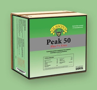Olsson's Peak 50 plus 7% Urea - Sheep & Cattle 16kg