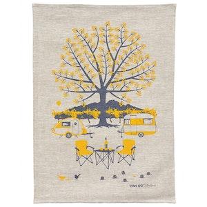 Van Go Linen Tea Towel 'Autumn'