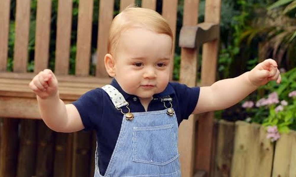 Prince George's First Steps