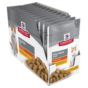 Hills Science Diet Cat Young Adult Neutered Chicken 12 x 85g