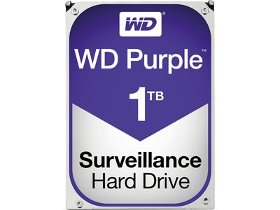 Western Digital (WD) 1TB Purple series hard drive (HDD)