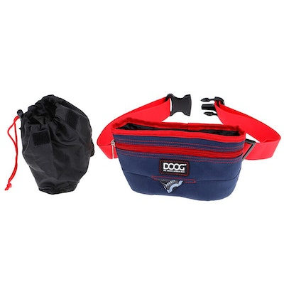 Doog Good Dog Treat Pouch - Navy & Red (Large)