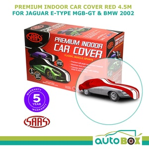 SAAS SHOW CAR COVER MEDIUM Red INDOOR for Classic E-TYPE MGB-GT BMW 2002 4.5m