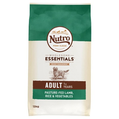 Nutro Wholesome Essentials Weight Management Lamb, Rice & Vegetables Dry Dog Food 13kg