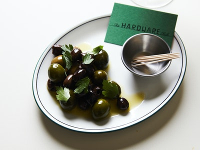 The Hardware Club Baked Olives