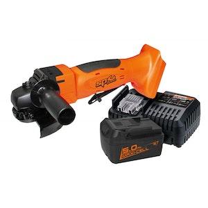 """Angle Grinder 18v 5"""" Brushless Inc 5.0Ah Battery & Charger SP81313"""