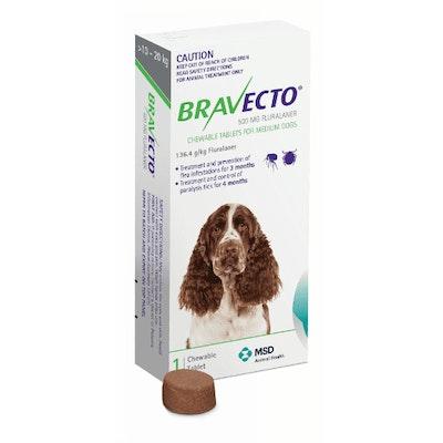 BRAVECTO Chew 10-20kg Dog 3 Month Pack