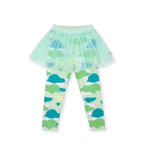 OETEO Australia Camo Flash Tulle Skirt Leggings (Green)