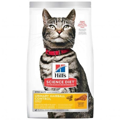 Hills Hill's Science Diet Urinary Hairball Control Adult Dry Cat Food