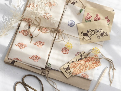 Wrapturous Calico Fabric Gift Wrapping Large