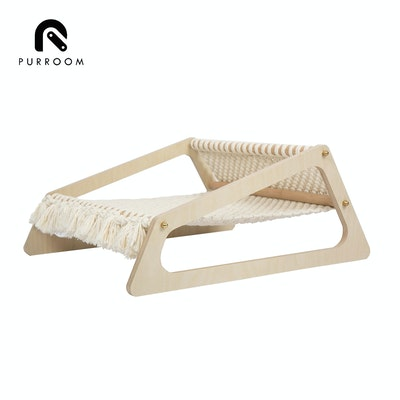 PURROOM Hand-Knitted Hammock Pet Bed