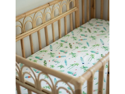 Anchor & Arrow Jersey Cotton Cot Sheet - Chasing Waves