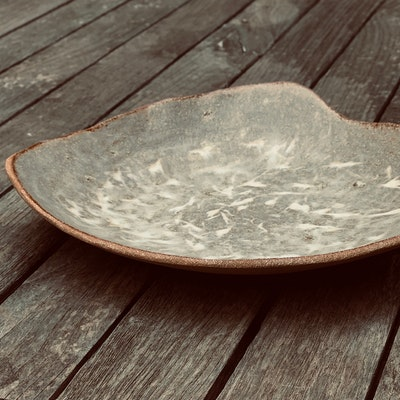 Memory Box Oversized Kangaroo Grass Inlay Organic Fruit Bowl in Sand