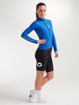 Black Sheep Cycling Women's Elements LS Thermal Jersey - Royal