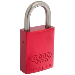 ABUS Brass Padlock 83IB/40 with 25mm SS Shackle KD - Red