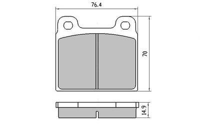 RDA GP MAX FRONT BRAKE PADS for MERCEDES BENZ W108 300SEL 3.5 V8 1/70-7/72 RDB11