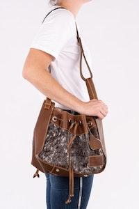 Hitchley & Harrow Hide-on Bucket Handbag BKT803
