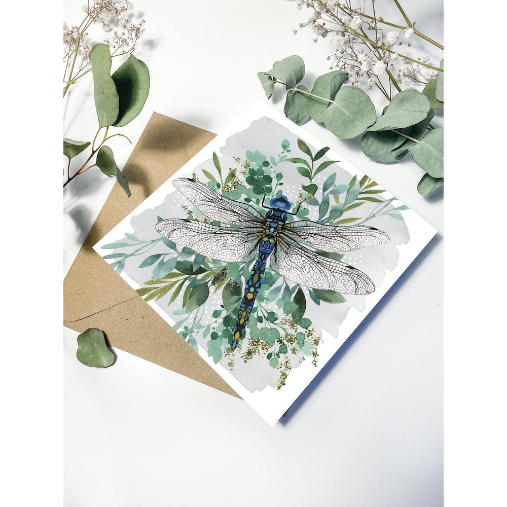 Laura Elizabeth Illustrations Dragonfly Greetings Card