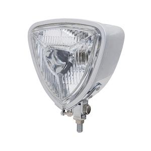 Bottom Mount Triangle Headlight - Chrome