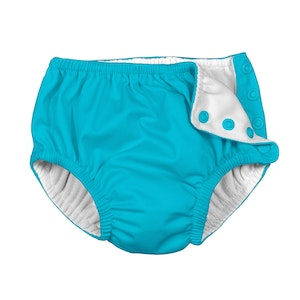 i play. Snap Reusable Absorbent Swimsuit Diaper-Aqua