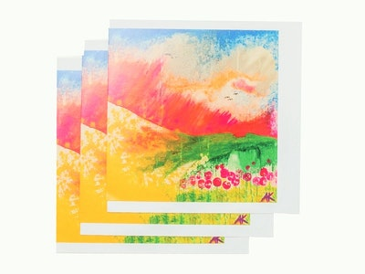 Diilhami Art Bali Red Dawn 3 card pack