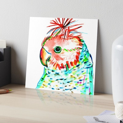 Iconic Colours Art board Print Large Size- Outstanding Gang Gang Cockatoo