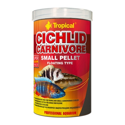 Tropical Cichlid Carnivore Small Pellet 360G Colour Enhancer