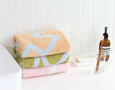 Bamboo Village Face Towel - Moon Pink