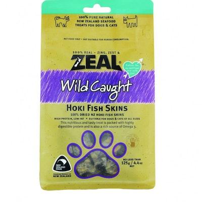 Zeal Free Range Naturals Hoki Fish Skins Dog Cat Treat 125g