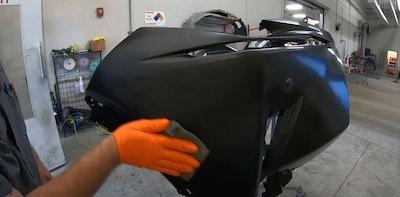 Preparing a New Plastic Bumper