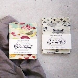 Beeutiful Beeswax Wraps 2 Pack | Beeginner Pack