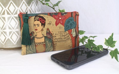 Frida Phone Purse - Paprika Birds