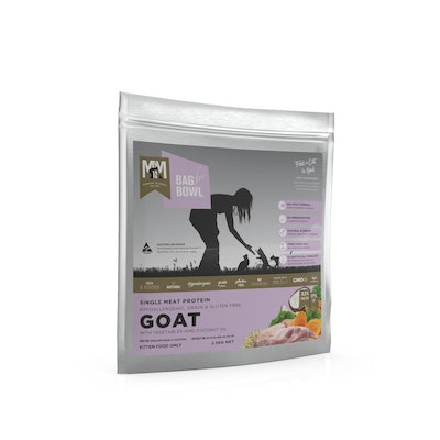 MEALS FOR MEOWS MFM Kitten Single Meat Protein Dry Cat Food Goat w/ Vegetables 2.5kg