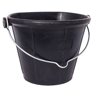 Tubtrugs New Tyre Rubber Feeder Flat Back Bucket Durable Horse Pet Pony 17L