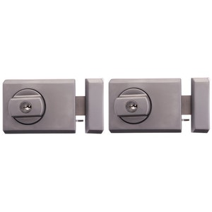 Whitco Deadlatch with Timber Frame Strike Twin Pack - Satin Chrome
