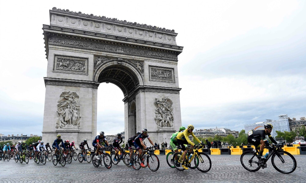 Froome Stage 21 Arc de Triomphe