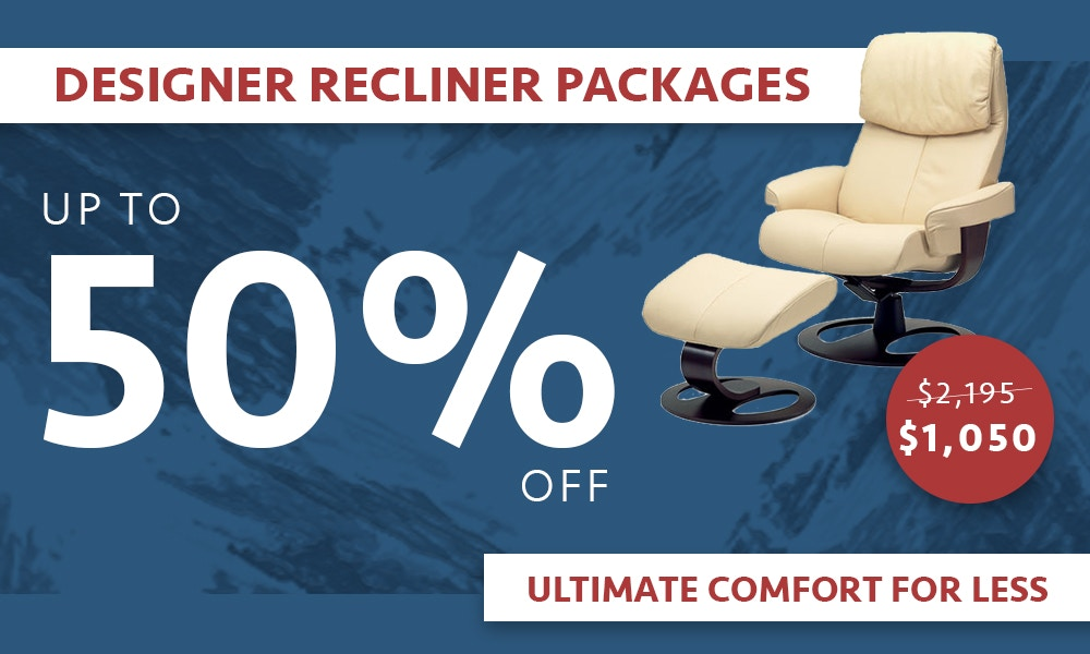 Up to 50% off Nordic Fjord Recliners