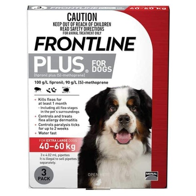 Frontline Plus - Flea Treatment for Dogs 40kg - 60kg