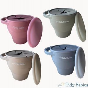 Tidy Babies  Collapsible Silicone Baby Snack Cup