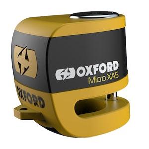 Oxford Micro XA5 Alarm Disc Lock - Yellow/Black