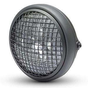 "7.7"" Shorty Mesh Metal LED Headlight - Matte Black"