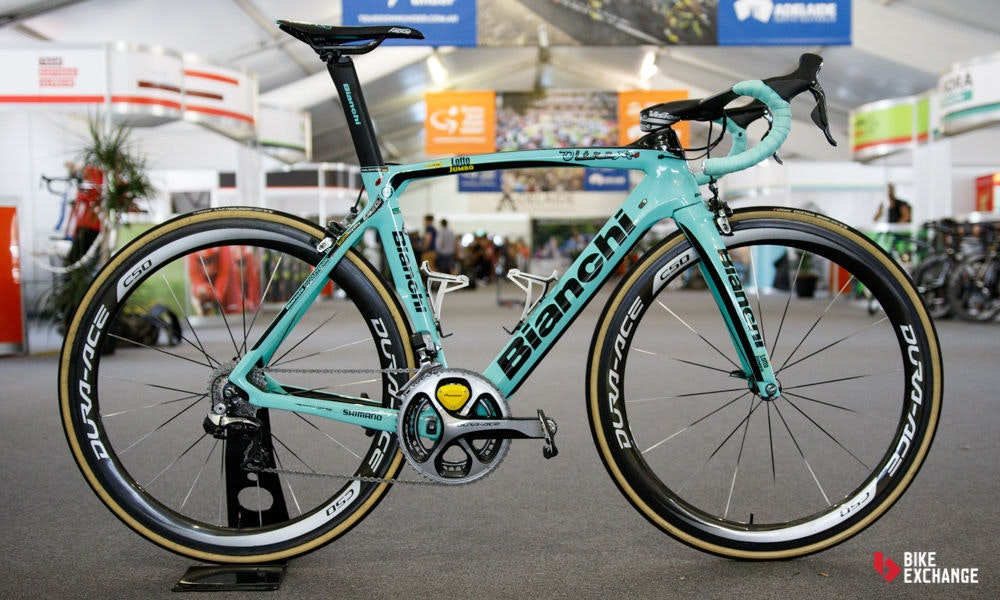 fullpage bikes of the 2017 worldtour lotto nl jumbo bianchi oltre xr 4