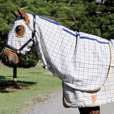 Capriole Equestrian Collar Check Wool Hood